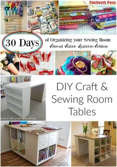 DIY Craft Table - some of these are totally awesome!  I need to redo my sewing room.