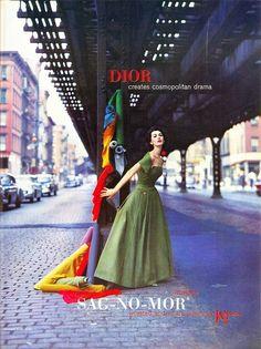Dior Ad 1956 by pansy Vintage Dior 670d50492f7c