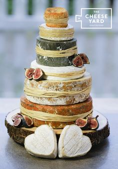 Harriet Perfect for a rustic wedding, a real crowd pleaser with camembert hearts, nutty red Leicester, award winning blue, soft . Strawberry Wedding Cakes, Wedding Strawberries, Wedding Cake Prices, Fall Wedding Cakes, Cheese Wedding Cakes, Cheese Cakes, Autumn Wedding, Cheese Tower, Cheese Bar
