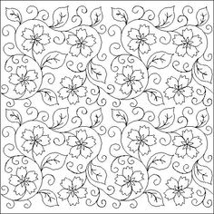 Floral Embroidery Patterns, Embroidery Works, Embroidery Motifs, Hand Embroidery Designs, Quilt Patterns, Islamic Art Pattern, Pattern Art, Motif Floral, Free Motion Quilting