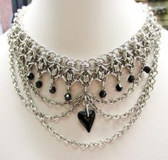 Chainmaille and Swarovski Crystal