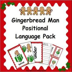 Positional Language Flashcards and Activity Pack - Christm Christmas Math, Christmas Activities For Kids, Winter Activities, Christmas Themes, Outdoor Christmas, Christmas Traditions, Positional Language, Gingerbread Man Activities, Gingerbread Men