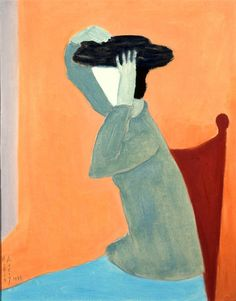Avery, Milton (American, 1885-1965) - Woman with Hat - 1945
