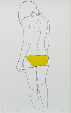 Natasha Law Back in Yellow, 2013 Silkscreen print with foiled detail on Somerset Satin White 300 gsm paper Paper size: 12 x 8 in / 30 x 18 cm Limited edition of 100 plus 15 artist proofs Signed and numbered on the front by the artist.