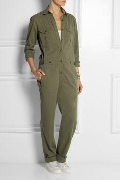 Étoile Isabel Marant|Warren cotton and linen-blend jumpsuit|NET-A-PORTER.COM