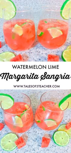 Watermelon Lime Margarita Sangria... Super Easy and Simple to make
