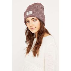 Reason Marled Burgundy Beanie ($42) ❤ liked on Polyvore featuring accessories, hats, burgundy beanie, knit hats, knit beanie, burgundy hat and beanie hats