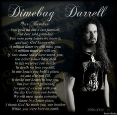 Rip I love you Music Mix, My Music, Only God Knows Why, Missing You Brother, Vinnie Paul, Dimebag Darrell, Rock Legends, Metalhead, Rock Music