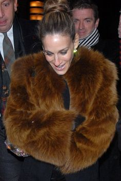 I'm sad that one of my fashion icons wears so much real fur. Very disappointed in Sarah Jessica Parker. :(