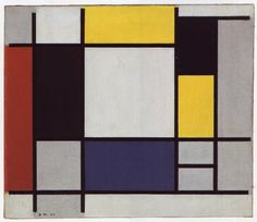 Composition With Red, Black, Blue, Yellow And Grey by Piet Mondrian