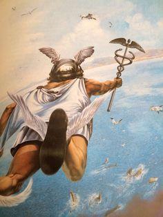 Hermes Mythology, Greek Mythology Art, Roman Mythology, Mercury Mythology, Loki, Thor, Symbole Viking, Son Of Zeus, Roman Gods