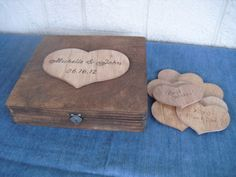 Rustic Wedding  Wood Box Personalized GUEST by dazzlingexpressions, $48.50