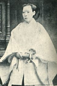 Japanese Imperial family's antique photograph.   Nakayama Yoshiko. Meiji emperor's Mother. 1836-1907 Edo-era, Meiji-era.
