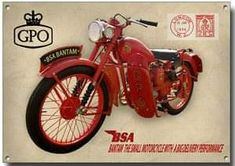 GPO BSA Bsa Motorcycle, Motorcycle Posters, Motorcycle Types, Vintage Motorcycles, Cars Motorcycles, Bsa Bantam, Bike Engine, Van Car, Bike Poster