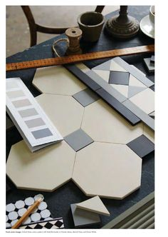 from Original style victorian floor tiles brochure Hall Tiles, Tiled Hallway, Victorian Tiles, Modern Victorian, Victorian Conservatory, Bathroom Floor Tiles, Tile Floor, Style Gris, Floor Design