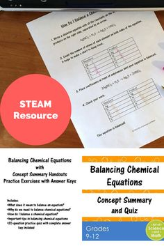 Reinforce the skill of balancing chemical equations in your high school chemistry course.