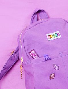 Your new go-to bag! Beautifulcustom dyed Lavenderdenim withgold trim zipper and Big Bud charm. Floppy and flexible. Leave your purse at home and take your ne