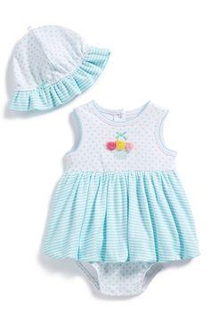 Little Me Bubble Skirt Bodysuit & Sun Hat (Baby Girls) available at #Nordstrom