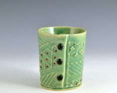 Small cup for tea or wine with Buttons by Charan Sachar
