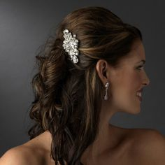 Radiant Silver Plated Crystal Bridal Hair Comb for Wedding, Prom | eBay