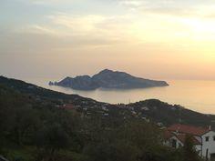 Sunset view from Villa Ieisha in Sorrento Coast