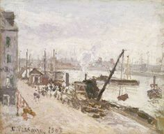 Camille Pissarro「Quayside at Le Havre」(1903)