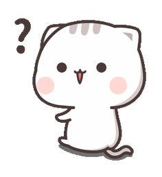 Cutie Cat-Chan One Cute Cartoon Drawings, Cute Cartoon Pictures, Cute Love Cartoons, Kawaii Drawings, Cute Love Pictures, Cute Love Gif, Cute Images, Cute Kawaii Animals, Kawaii Cat