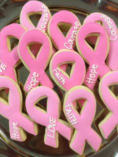 Think Pink Ribbon Cookies  #October #BreastCancer #awareness