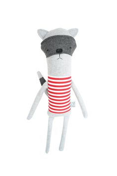Plush Raccoon Friend- Finkelstein's Center Handmade Creature