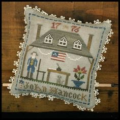 It would be fun to do Balaam Thompson based on this.  Little House Needleworks John Hancock - Early American - Cross Stitch Pattern.