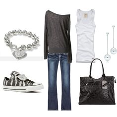 minus the earrings, bracelet, and purse & different shoes :)