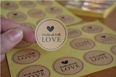 "Samolepky \"" Made with Love\"" Love, Desserts, Amor, Tailgate Desserts, Deserts, Postres, Dessert, Plated Desserts"