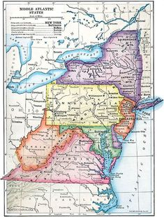 Find Birth, Marriage, and Death Records from U.S. Mid-Atlantic States