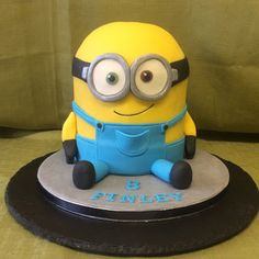Fondant Follies Cakes - Google+Minion Bob in Chocolate, Buttercream & Ganache handmade and decorated