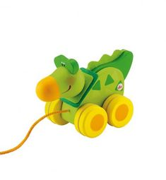 Sevi pull along toy Pull Along Toys, Crocodile, Toy Boxes, Yoshi, Wooden Toys, Mini, Physique, Character, Products