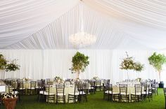 Elegant Tented Reception Area | Lahontan Golf Club | Angie Silvy Photography | TheKnot.com