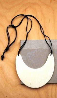 Ebony Horn Necklace - Plümo Ltd