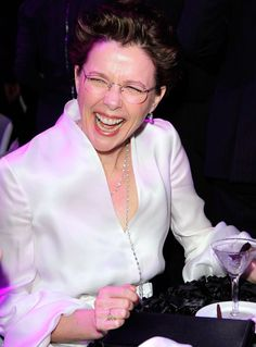 Annette Bening laughing