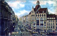 Leipziger Straße, Richtung Westen vom Spittelmarkt, um 1910