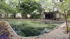 Pablo Escobar's house and pool, photographed in 2004