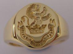 Seal Engraved Signet Ring