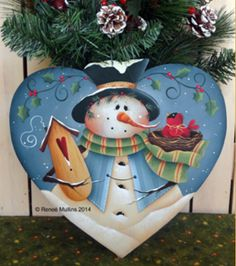 An adorable winter snowman to keep around all season to great your front or back door guests. Christmas Wood, Christmas Signs, Country Christmas, Christmas Pictures, Christmas Snowman, Christmas Projects, Christmas Decorations, Christmas Ornaments, Heart Decorations