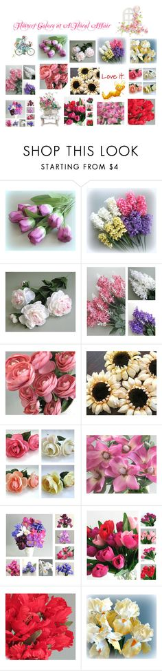 """Flower Galore at A Floral Affair on Etsy"" by afloralaffair-1 ❤ liked on Polyvore featuring interior, interiors, interior design, home, home decor, interior decorating and Fantasia"