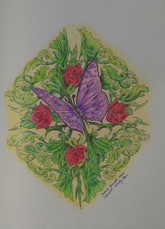 Coloured With WH Smith Spectrum Sings And Staedtler Ergosoft
