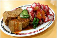 fried tofu & fired pork belly | Taiwanese food