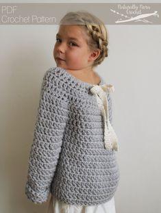 Crochet Pattern: The Lise Sweater 3/4 5/6 by NaturallyNoraCrochet