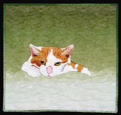 """Fig"" by Jodi Scaltreto (New Hampshire).  A Quilter's Gathering 2014 juried show.  thread painted and free motion quilted."