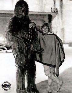 Chewbacca and Luke #starwars