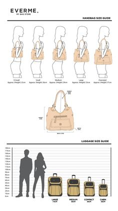 Size Guide. Infographic good. Clicks thru to Australian bag store, no additional info. /a