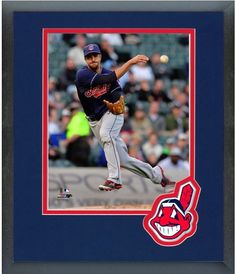 Lonnie Chisenhall 2014 Cleveland Indians- 11 x 14 Team Logo Matted/Framed Photo